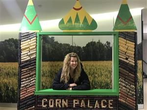Miss Thomson in the Corn Palace