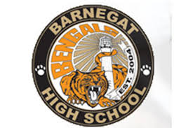 "Bengal Tiger with Lighthouse ""Barnegat High School est. 2004"""