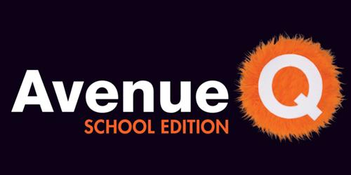 Avenue Q logo Image - Title and fuzzy orange Q