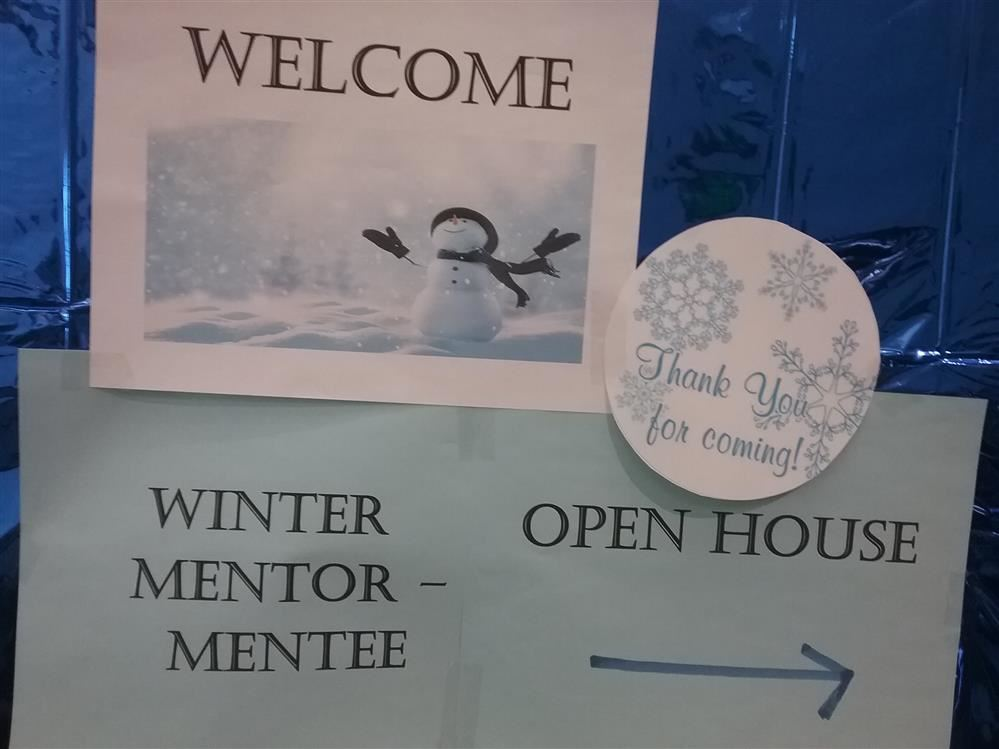 Winter Mentor/Mentee Welcome SIgn